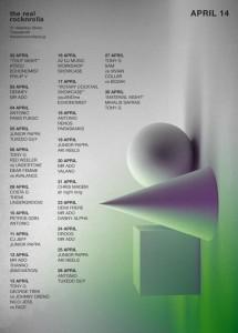 April Schedule 2014